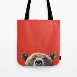 Bear - Red Tote Bag