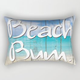 Beach Bum Coastal art Rectangular Pillow