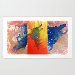 Blue Avian Art Print