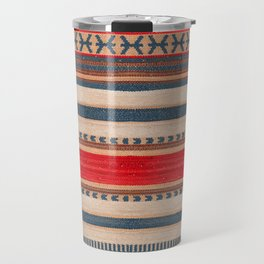 N66 - Classic Oriental Moroccan Style Fabric. Travel Mug