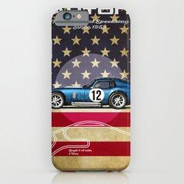 Daytona Racetrack Vintage iPhone Case
