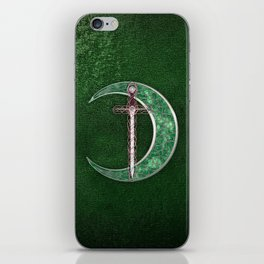 Green Celtic Moon iPhone Skin