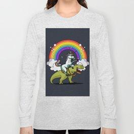Unicorn ride dino Long Sleeve T-shirt