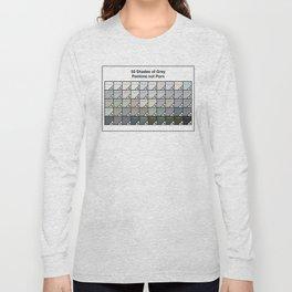 50 Shades Of Grey : Pantone Swatches - Pantone not Porn Long Sleeve T-shirt