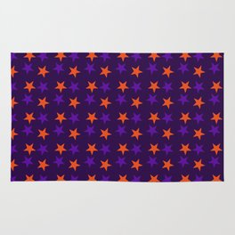 Magical Violet Stars Fall Halloween  2018 Rug