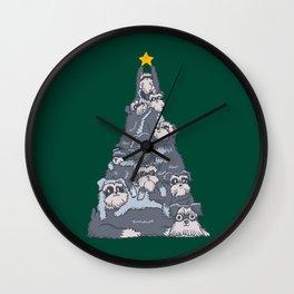 Christmas Tree Schnauzer Wall Clock