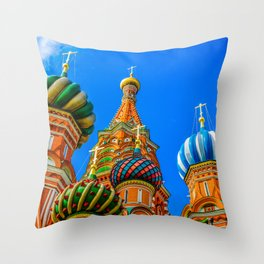 St. Basil's cathedral Throw Pillow