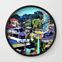 Rocky Point Amusement Park Photograph #1 – Warwick, Rhode Island Wall Clock