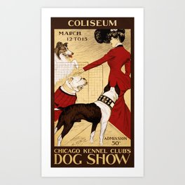 Chicago Kennel Club's Dog Show (1902) Art Print