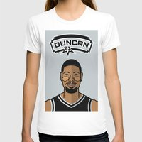 tim shumate T-shirts featuring Tim Duncan by Will Wild