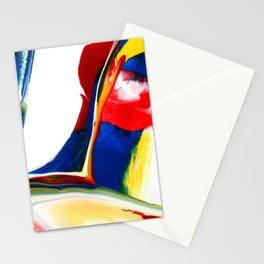 Abstract Acrylic Paint Pattern Texture #4 - Red, Blue, Yellow Stationery Cards