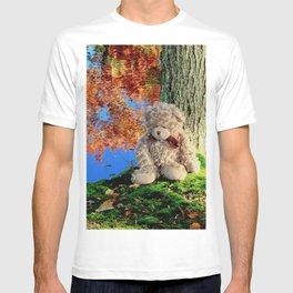 autumn reflections with teddy bear T-shirt