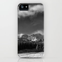 Rocky Mountan Park in Black and White iPhone Case