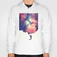 sky Hoodies featuring Painting the universe by badbugs_art