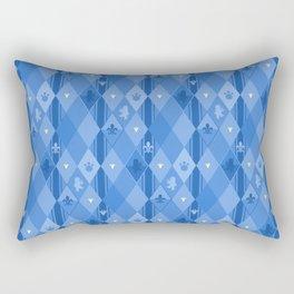 Blue Lily Bear Rectangular Pillow