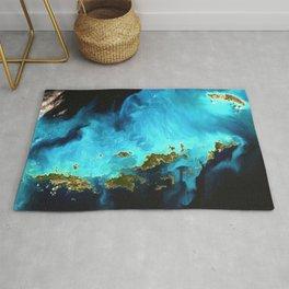 Virgin Islands Satellite Image Rug