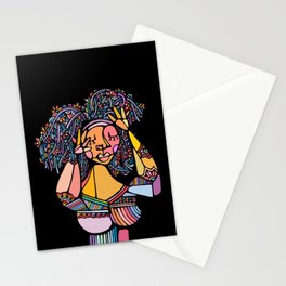 Back to Black Stationery Cards