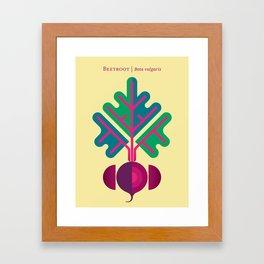 Vegetable: Beetroot Framed Art Print