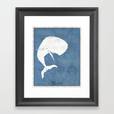 Moby Dick Poster Design Framed Art Print