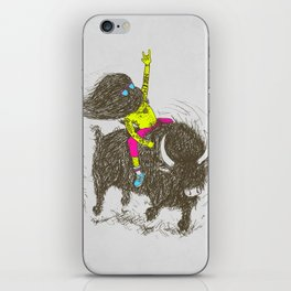 Ride a buffalo iPhone Skin
