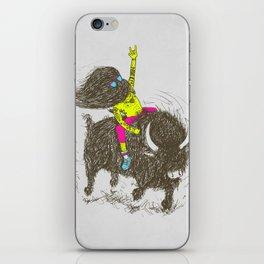 Ride a buffalo iPhone Skin