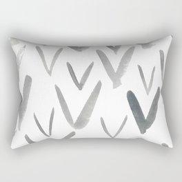 Watercolor V's - Grey Gray Rectangular Pillow