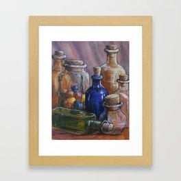 Splash Of Colored Glass Framed Art Print