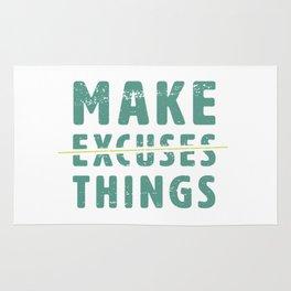 Make Excuses Things Rug