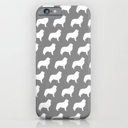 White Great Pyrenees Silhouette iPhone Case