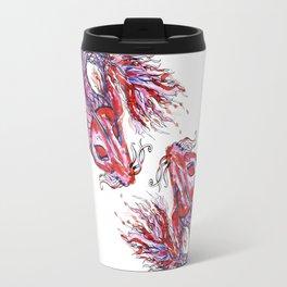 Dueling Koi Fish - Watercolor Travel Mug