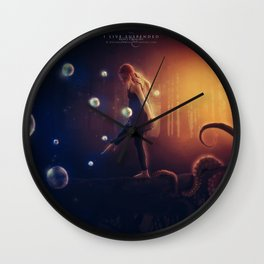 I Live Suspended Wall Clock