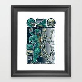 Kaiju Monster Framed Art Print
