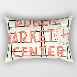 Pike Place Market Sign Rectangular Pillow