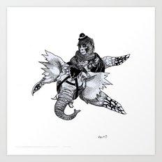 Dompteur d'Elevolant Art Print