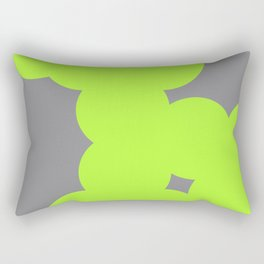 neon colour chain Rectangular Pillow