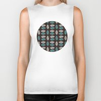 leaf Biker Tanks featuring Leaf  by C Designz