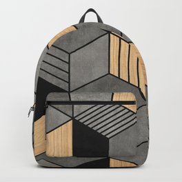Concrete and Wood Cubes 2 Backpack