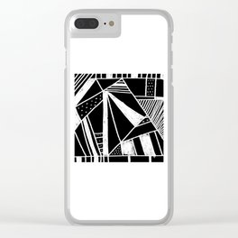 Chalkboard Mayhem Clear iPhone Case