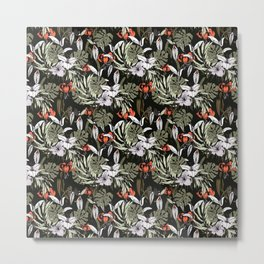 Dark tropical pattern I Metal Print