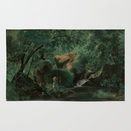 André Giroux Forest Interior with a Painter, Civita Castellana Rug