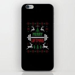 Ugly Christmas Merry Liftmas iPhone Skin