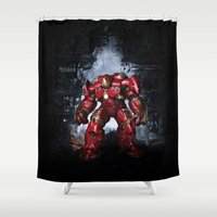 iron man Shower Curtains featuring IRON MAN iron man by alifart