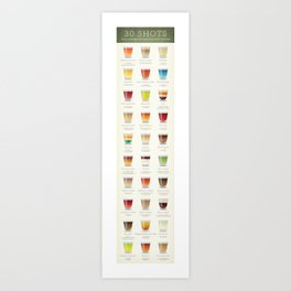 30 Shots (skinny version) Art Print