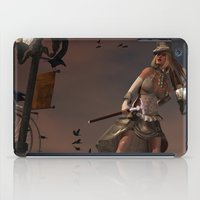 steam punk iPad Cases featuring Steam Punk - The Crows by J. Ekstrom