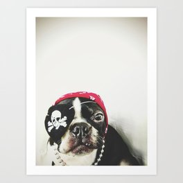 Pirate Terrier Art Print