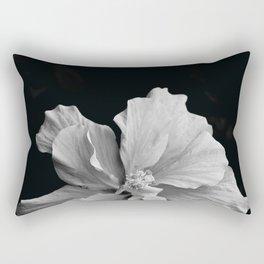 Hibiscus Drama - Black and Grey Rectangular Pillow