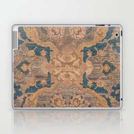 Persian Motif I // 17th Century Ornate Rose Gold Silver Royal Blue Yellow Flowery Accent Rug Pattern Laptop & iPad Skin