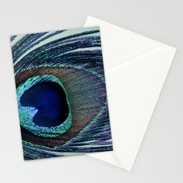 Eye of the Peacock Feather Abstract Photograph Artwork Stationery Cards