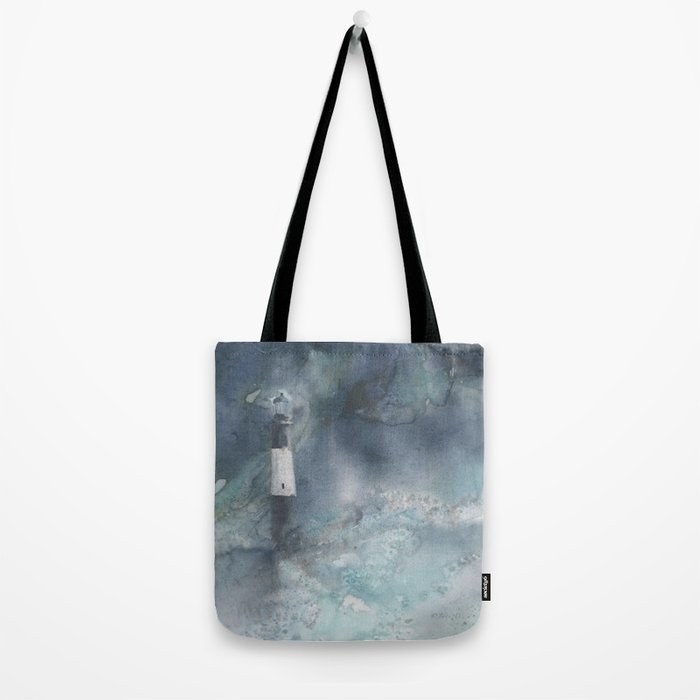 Night Storm at Tybee Lighthouse Tote Bag