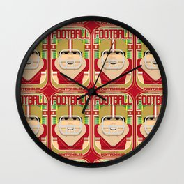 American Football Red and Gold - Enzone Puntfumbler - Victor version Wall Clock